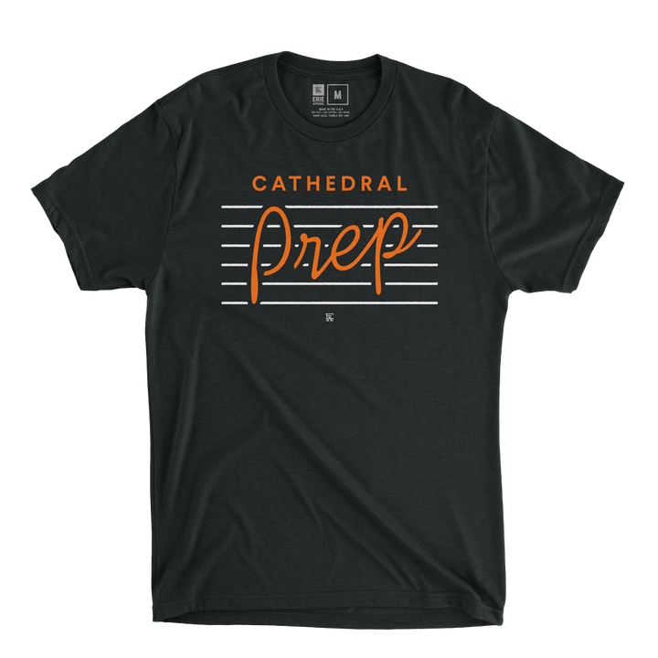 Cathedral Prep Script Tee