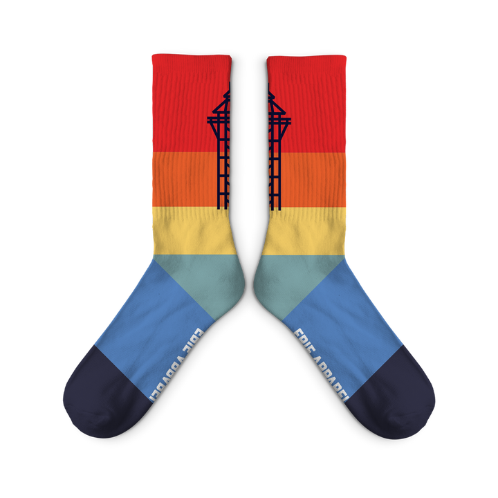 Bayfront Tower Socks - Sunset