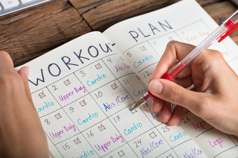 Image of workout schedule