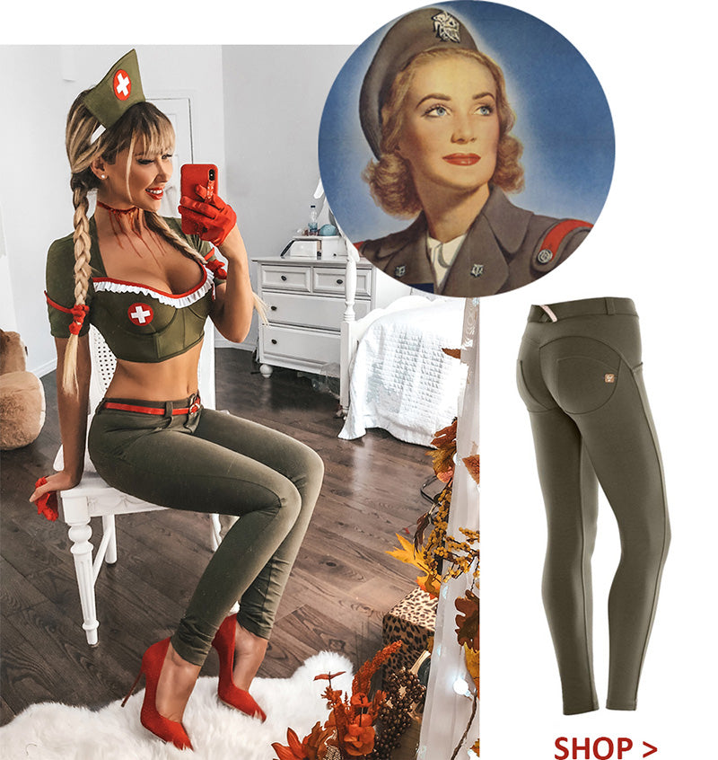 Freddy Pants Halloween Costume Party Woman Army Nurse