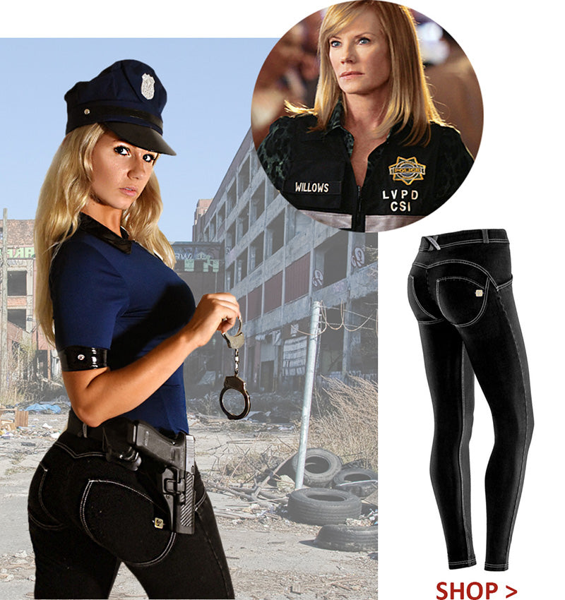 Freddy Pants Halloween Costume Party Woman Police Cop CSI