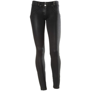 FREDDY WR.UP SKINNY COATED DENIM EFFECT - Black - LIVIFY  - 2