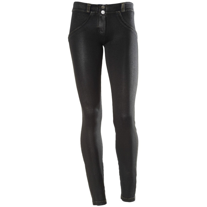 FREDDY WR.UP SKINNY COATED DENIM EFFECT - Black - LIVIFY  - 1