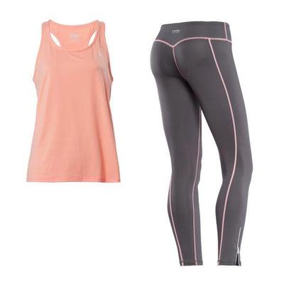 Freddy Superfit D.I.W.O.® Sport Pant + Top + Tank - Peach/Grey