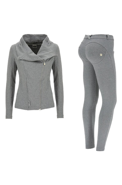 Freddy Lightweight Tracksuit With Asymetrical Zip Jacket Matching WR.UP® Pant - Heather