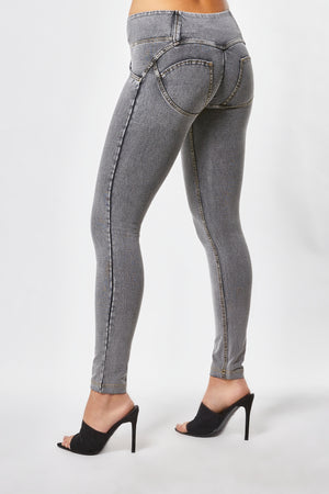 WR.UP® Denim - Mid Rise Full Length 3 Button - Grey Rinse