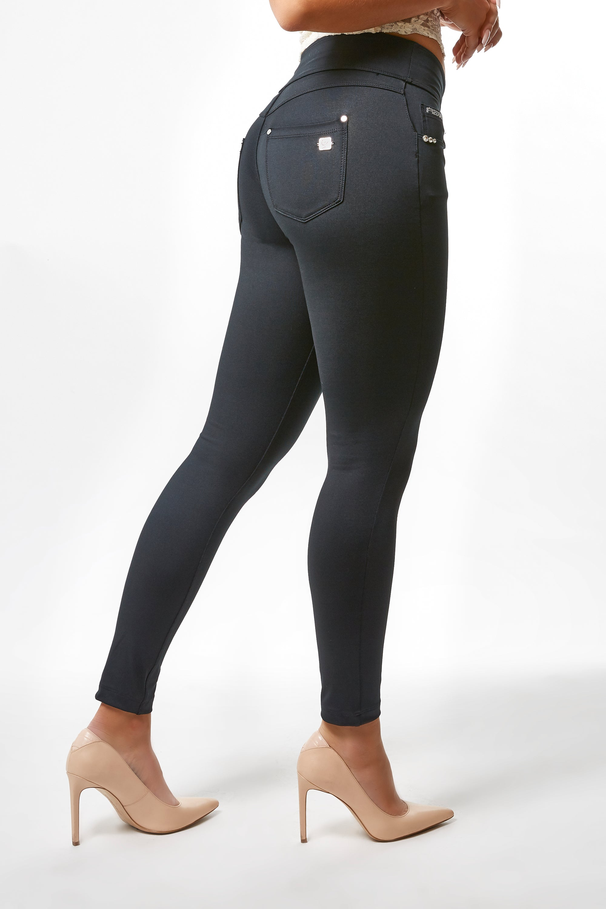 N.O.W.® YOGA Fashion - High Rise Full Length Satin Finish - Black