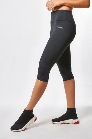 ENERGY PANTS® - High Rise Cropped D.I.W.O.® - Black