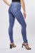 N.O.W.® YOGA Denim -  High Rise Full Length Foldover Waist - Indigo Marble Rinse