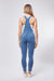 WR.UP® Denim Overalls - Button-Up Sleeveless Ankle - Medium Rinse + Yellow Stitching