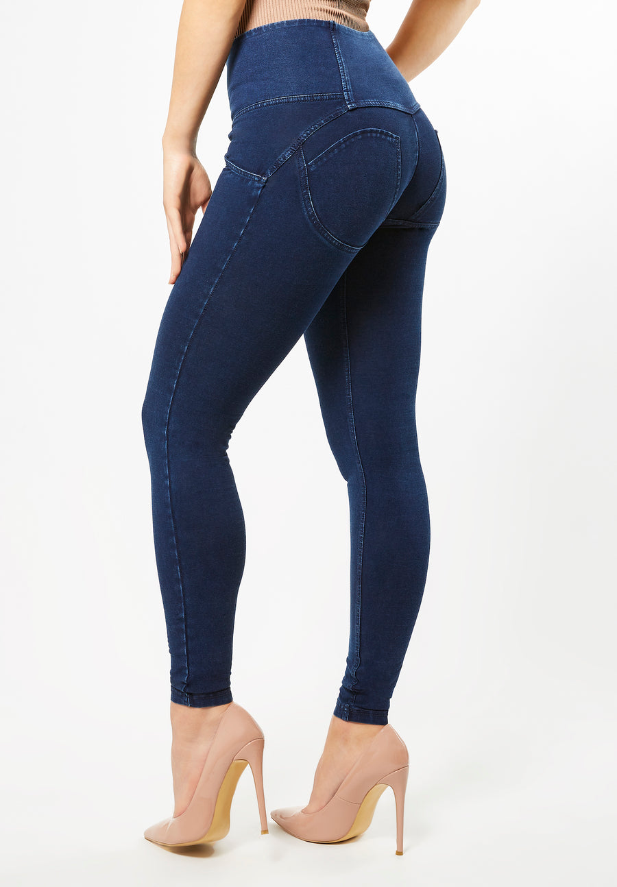 Freddy WR.UP® 4 Button High Rise Denim Effect Super Skinny - Dark Rinse