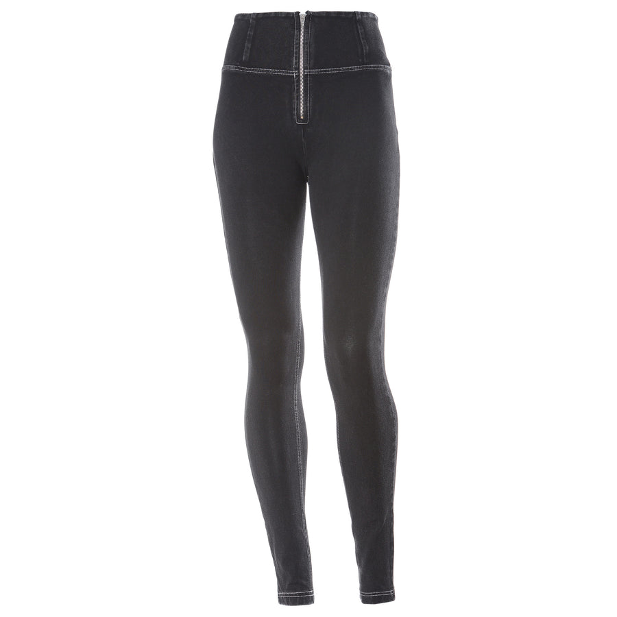 Freddy WR.UP® Denim High Rise Skinny - Black Rinse + White Stitching