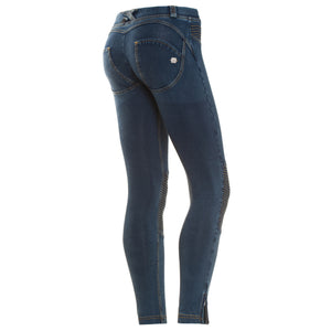 FREDDY WR.UP MOTORCYCLE ZIP ANKLE LENGTH - Denim Effect - LIVIFY  - 1