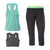 FREDDY WRUP  SPORT CAPRI PANT + TOP + TANK SET - Mint/Black - LIVIFY  - 1