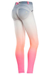 FREDDY WR.UP 7/8 ANKLE OMBRE PRINT PANT - Peach - LIVIFY  - 1