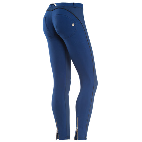 FREDDY WR.UP 7/8 ZIP ANKLE PIPING PANT - Blue - LIVIFY  - 1