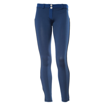 FREDDY WR.UP 7/8 ZIP ANKLE PIPING PANT - Blue - LIVIFY  - 2