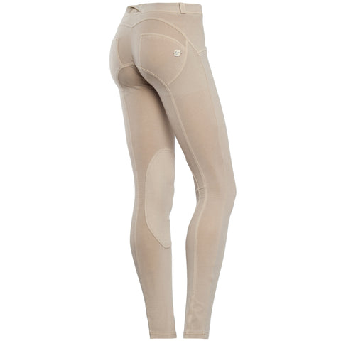 FREDDY WR.UP  WASHED RIDING PANT - Beige - LIVIFY  - 1