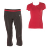 FREDDY WR.UP  SPORT SHAPING EFFECT CORSAIR PANT + TEE SET- Cherry - LIVIFY  - 1