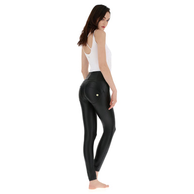 Freddy WR.UP® High Rise Eco Leather Skinny - Black