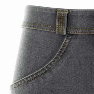 WR.UP® Denim - Low Rise Full Length - Grey Rinse & Yellow Stitching