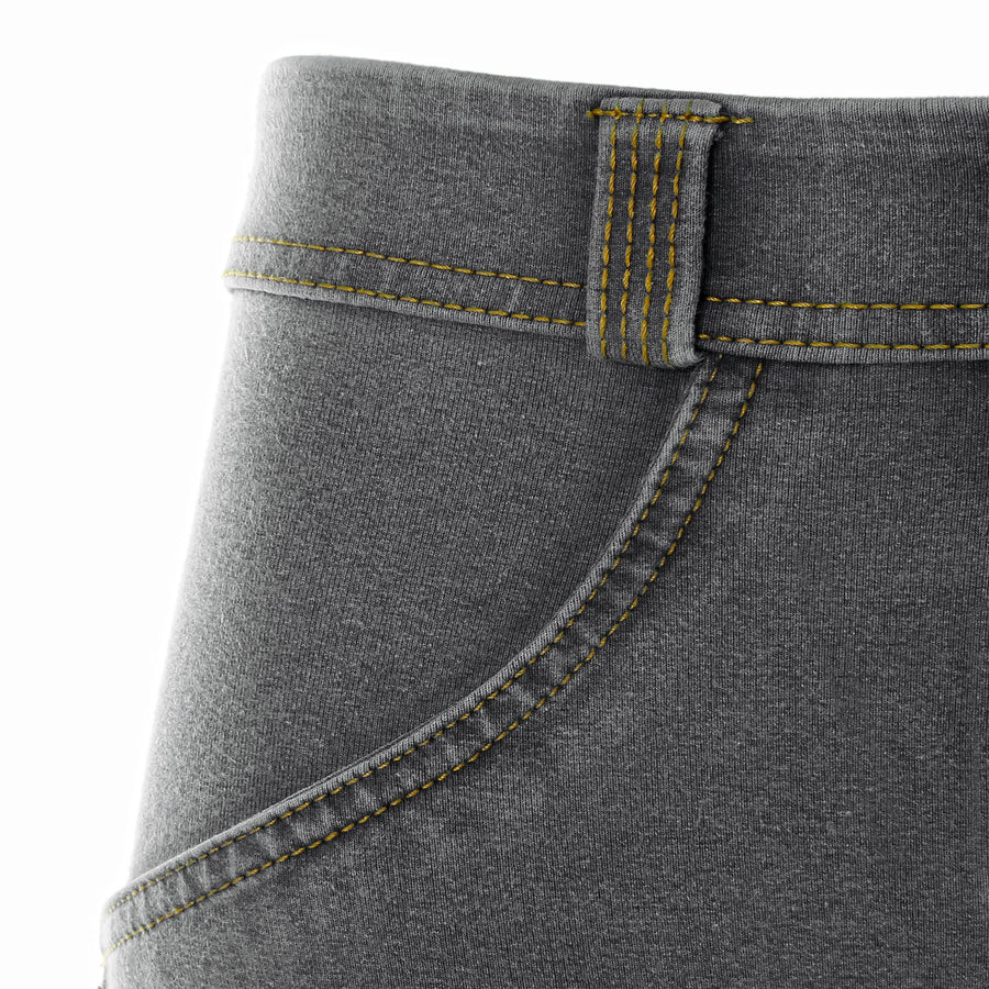 Freddy WR.UP® Denim Low Rise Skinny - Grey Rinse + Yellow Stitching