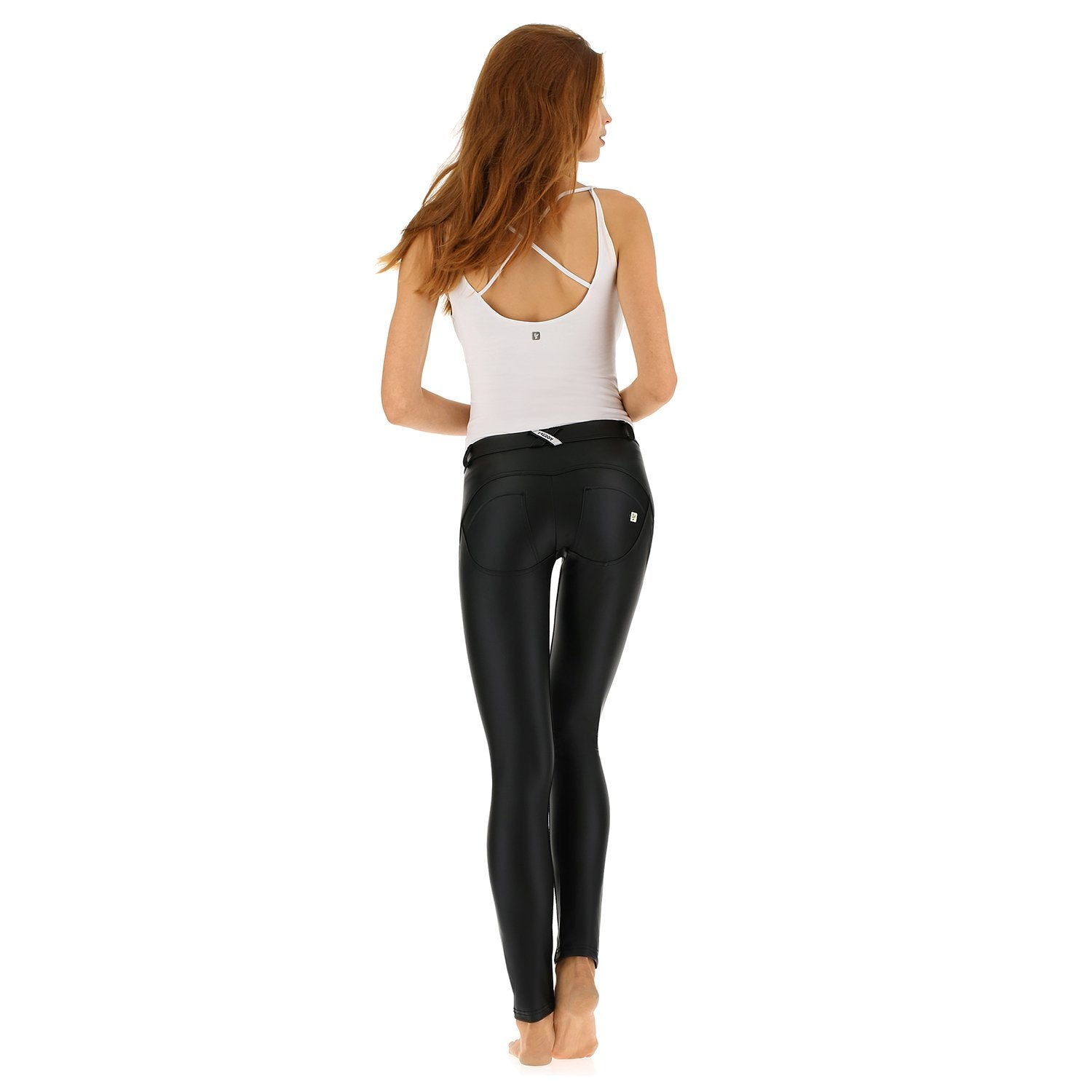 e5f93c97ef8d6a Freddy WR.UP® Eco Leather Effect Skinny Pushup Pants, Shaping ...