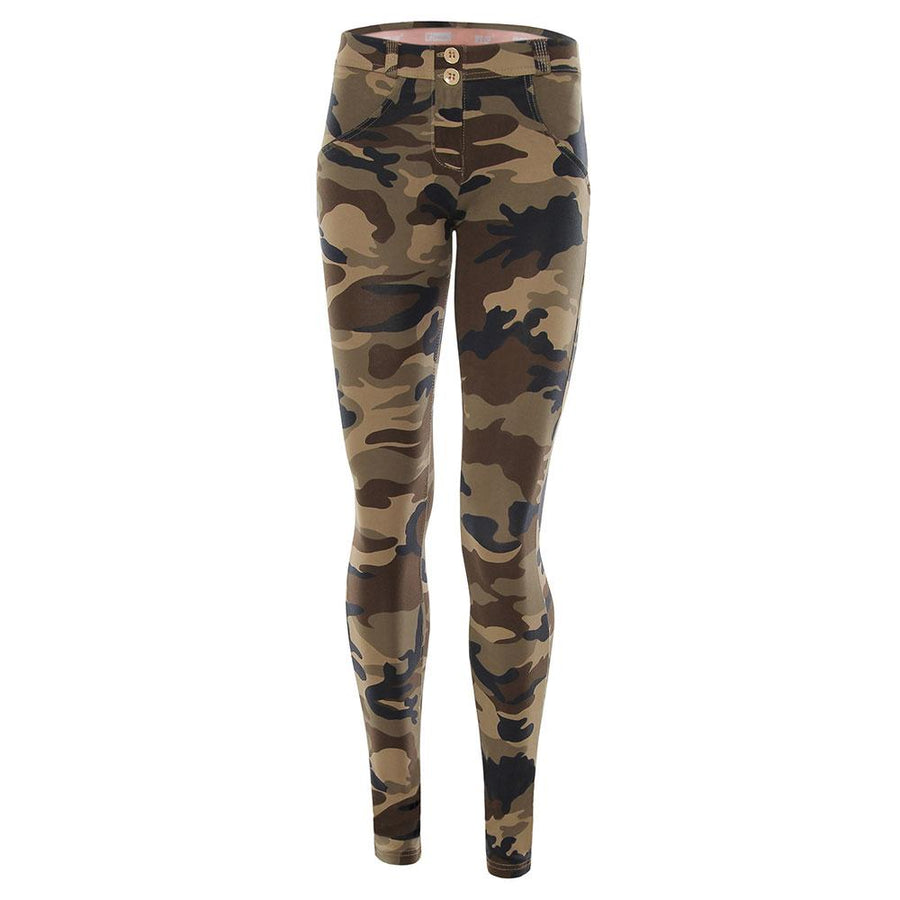 Freddy WR.UP® Low Rise Skinny - Dark Camo