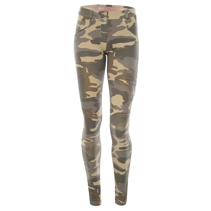 Freddy WR.UP® Mid Rise Skinny - Light Camo