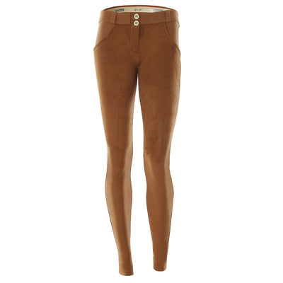 Freddy WR.UP® Suede Low Rise Skinny - Caramel