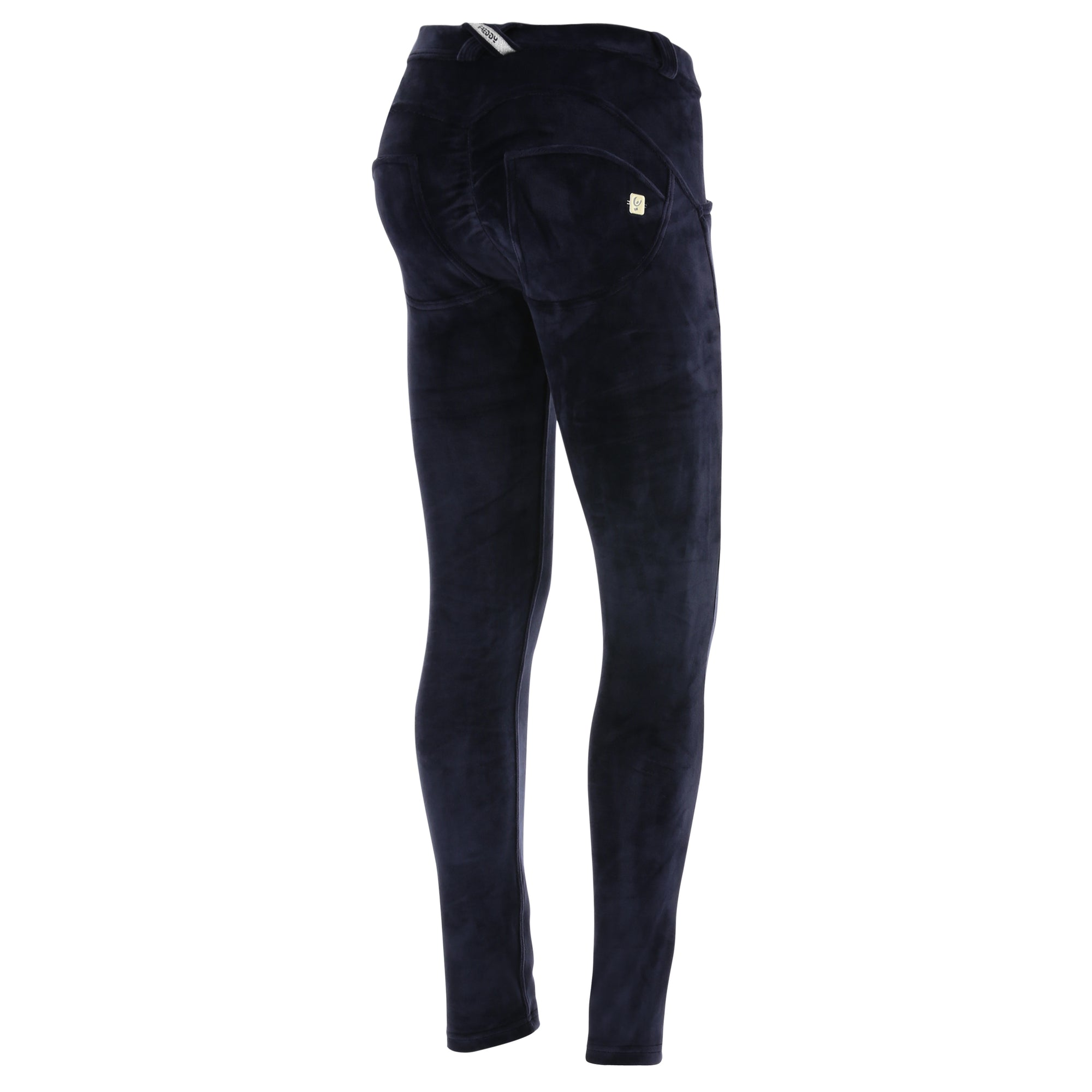 WR.UP® Fashion - Classic Rise Full Length Velvet   - Navy
