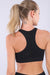 Sports Bra - Seamless Camo Print - Black