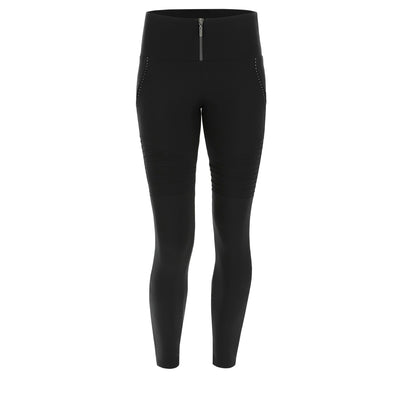 Freddy WR.UP® Moto Active Zip High Rise Pant - Black