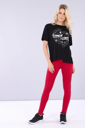 WR.UP® Moto Fashion - High Rise Full Length - Red