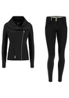 Freddy Lightweight Tracksuit With Asymetrical Zip Jacket Matching WR.UP® Pant - Black