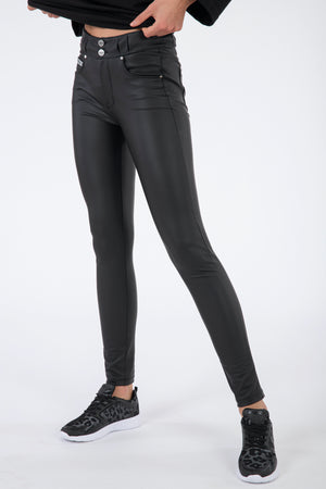 N.O.W.® Eco Leather - Classic Rise Full Length - Black