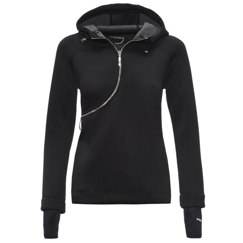 FREDDY D.I.W.O CURVE BREATHABLE SWEATSHIRT - Black - LIVIFY  - 1