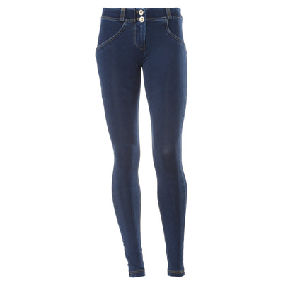 FREDDY WR.UP REGULAR RISE DENIM EFFECT SKINNY - Dark Rinse - LIVIFY  - 2