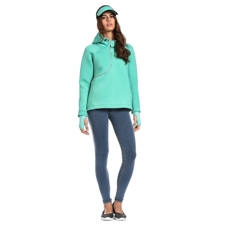FREDDY D.I.W.O CURVE BREATHABLE SWEATSHIRT - Mint - LIVIFY  - 1