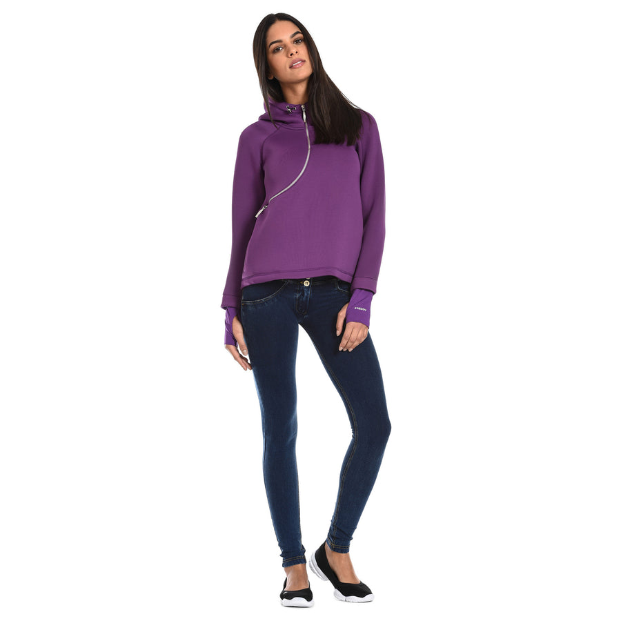 FREDDY D.I.W.O CURVE BREATHABLE SWEATSHIRT - Purple - LIVIFY  - 1