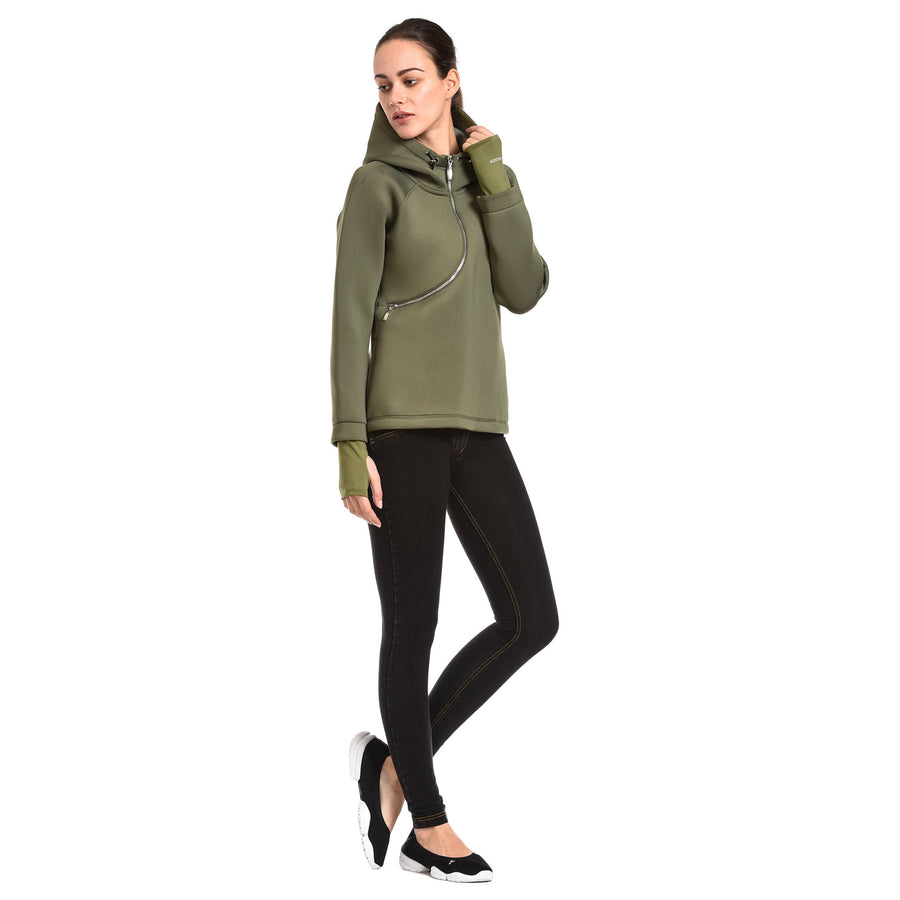 FREDDY D.I.W.O CURVE BREATHABLE SWEATSHIRT - Army - LIVIFY  - 1