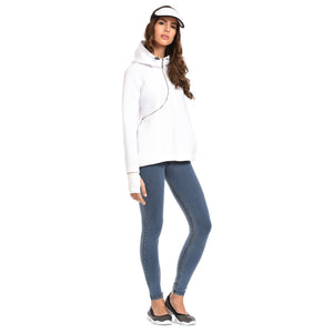 FREDDY D.I.W.O CURVE BREATHABLE SWEATSHIRT - White - LIVIFY  - 2