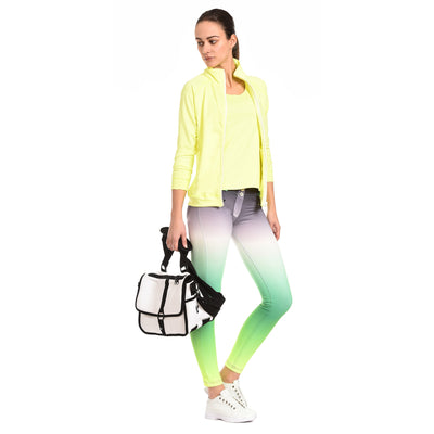 FREDDY WR.UP 7/8 ANKLE OMBRE PRINT PANT - Green - LIVIFY  - 4