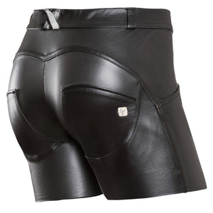 FREDDY WR.UP ECO LEATHER EFFECT SHORT - Black - LIVIFY  - 1