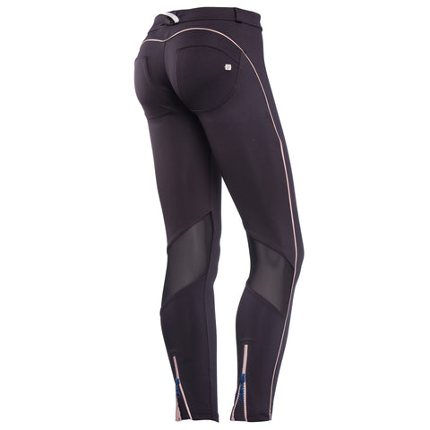 Freddy WR.UP Zip Contrast Ankle Piping Pant Skinny - Black - LIVIFY  - 1