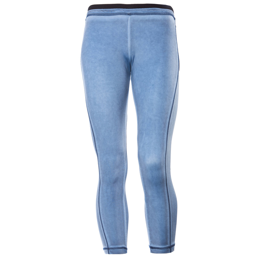 FREDDY ANKLE LENGTH PANTS GARMENT DYED - Blue - LIVIFY  - 1