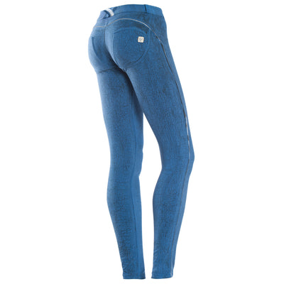 FREDDY WRUP CRACKLE PANTS - Blue - LIVIFY  - 1