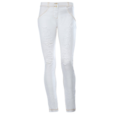 Freddy WR.UP Ripped Front Skinny - White - LIVIFY  - 2