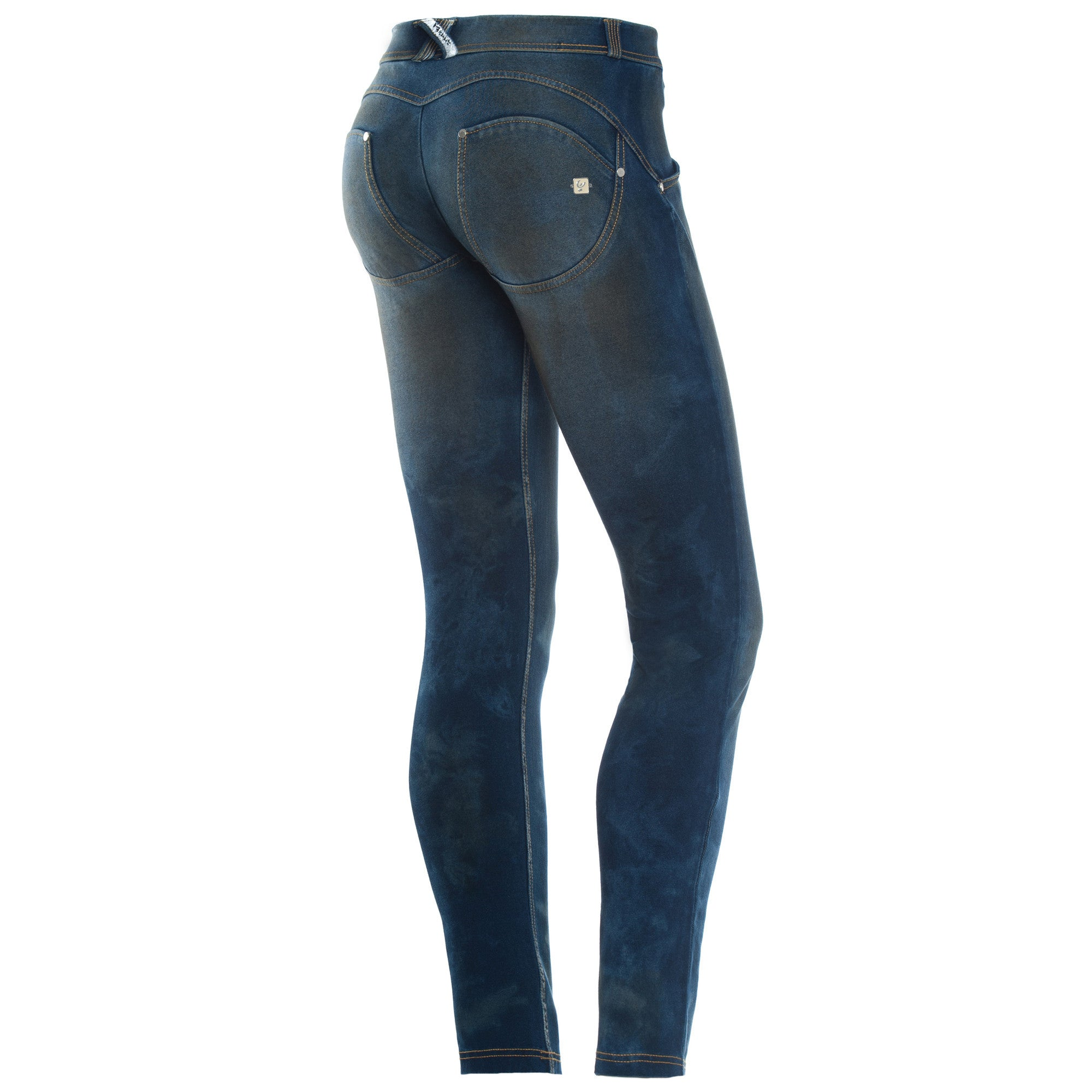 WR.UP® Denim - Low Rise Full Length Dirty Finish - Dark Rinse