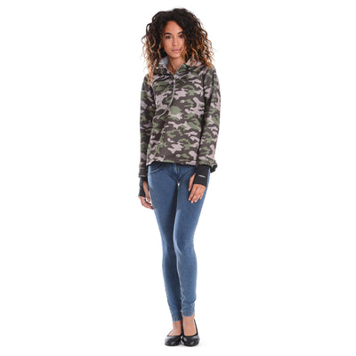 FREDDY D.I.W.O CURVE BREATHABLE SWEATSHIRT - Dark Camo - LIVIFY  - 3
